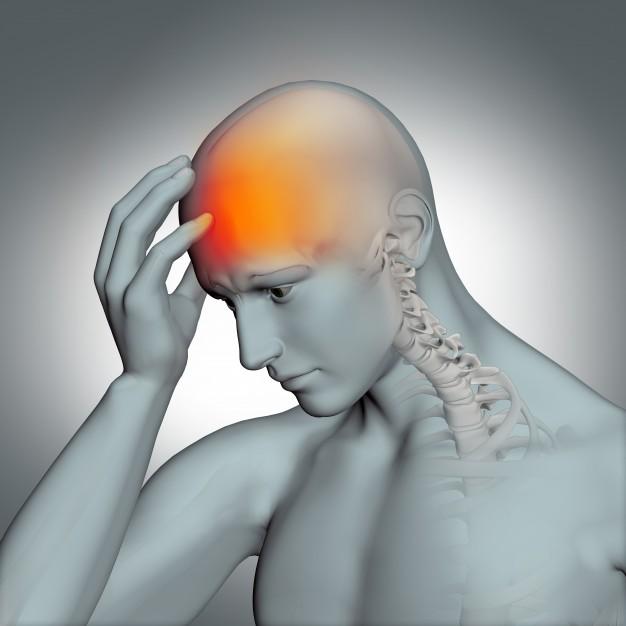 頭痛に悩む方のイラスト