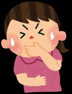 交通事故後の頭痛・めまい・吐き気に悩む女性のイラスト