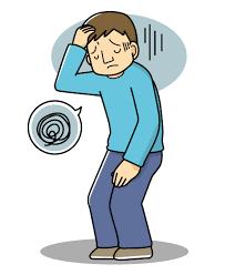 自律神経失調症に悩む方のイラスト
